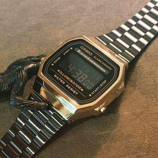 Casio 黑金色 跳字錶 全新