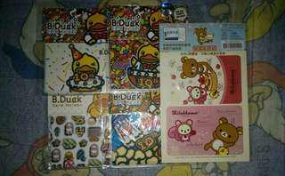 清貨,蝕賣New B.Duck Card Holder & Octopus Sticker 全部 $20