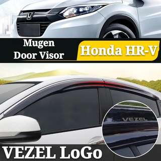Honda HR-V Mugen Door Visor Stainless Steel Chrome Lining Trim Frame Vezel LoGo