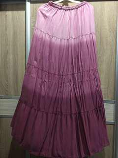 Maroon Ombre Skirt