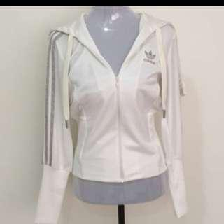 Adidas White And Silver Sweater