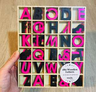 Wooden Alphabets for Crafts