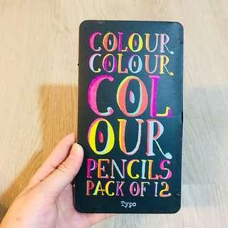 Typo Colour Me Happy Colour Pencil Set of 12