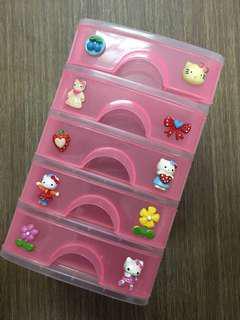 Hello Kitty small plastic storage drawers