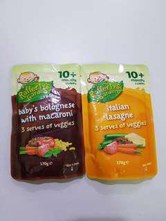 Rafferty's Garden Baby Bolognese With Macaroni Veggies. Italian Lasagne Veggies 10 month+