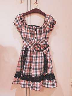 Lolita Tralala Liz Lisa Checkered Dress Onepiece