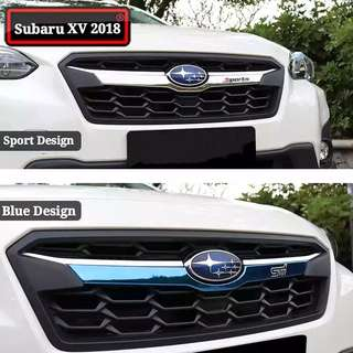 Subaru XV 2018 Front Face Grille Trim Front Cover Bright Strip