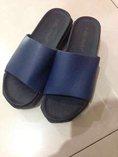 Sandal wedges navy