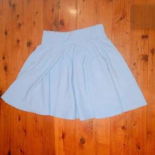 Sky blue flare A line skirt