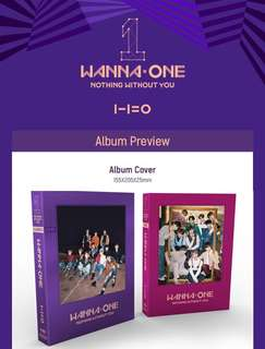 [PREORDER] Wanna One 1-1=0 (Nothing Without You) Album ⠀
