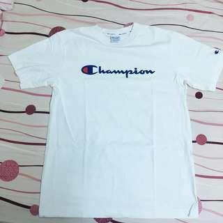 Champion Life草寫LOGO 短T(白)