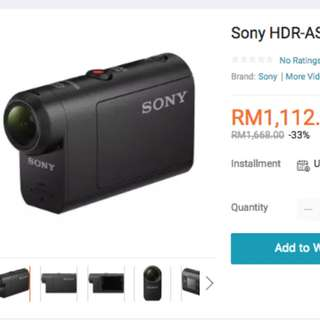 New Sony Action Cam HDR AS50 Stabilizer