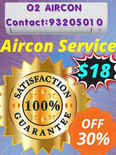 AIRCON SERVICE $18