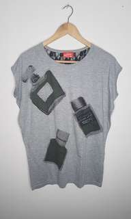 Herbench Grey Top Blouse Size L