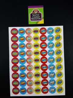 [INSTOCK] BN Superheros Small Reward/Merit Stickers (Teacher Created Resources)