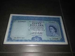 1953 Malaya $50