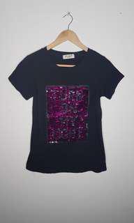 Sequins Effect T Shirt Size M