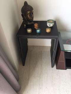 Full leather side table
