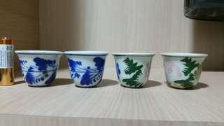 4 vintage Tea cup 茶杯