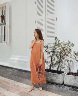 🚚 (pending) tcl the closet lover brilynn maxi dress in sienna brown