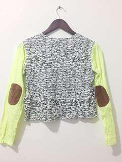 Neon baseball crop top