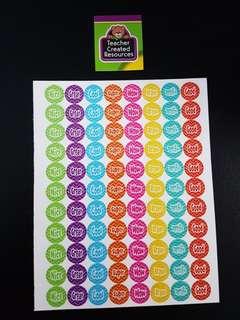 [INSTOCK] BN Chevron Mini Reward/Merit Stickers (Teacher Created Resources)