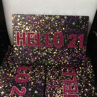 Kylie's birthday minis: Hello 21 [INSTOCK]