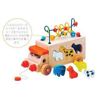 🚚 日本 寶寶 多功能 木製 益智 玩具