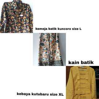 Kemeja batik . Kebaya kutubaru . Kain lili