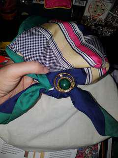 Vintage Style Scarf and brooch