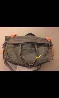 Grey Nike foldable duffel bag