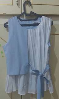 Chocochips Boutique Inez Top Blue Size M