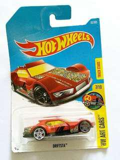 hot wheels 玩具車 hw art cars driftsta 紅色 DTX93