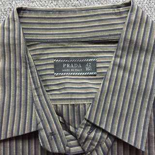 Prada men's  Stripy shirt 間條恤衫