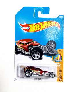 hot wheels 玩具車 SURF CRATE 紅 100
