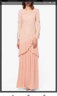 Laysha Modern Kurung Set in Nude Pink
