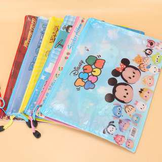 🚚 Children's Day present- A4 zipper bag with cartoon print /waterproof /A4 file bag/ 11 Design available