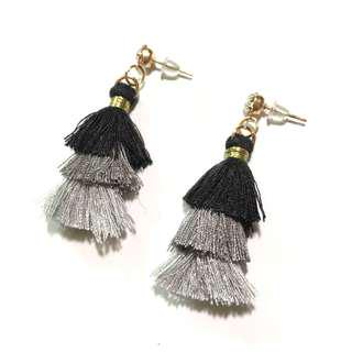 3 Layer Tassel Earings