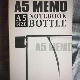 A5 Memo Notebook Bottle (pink)👌🏼👌🏼