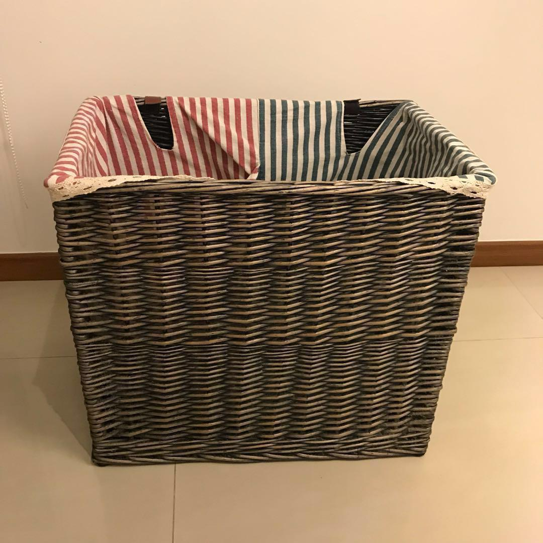 2 Compartment Laundry Basket Home