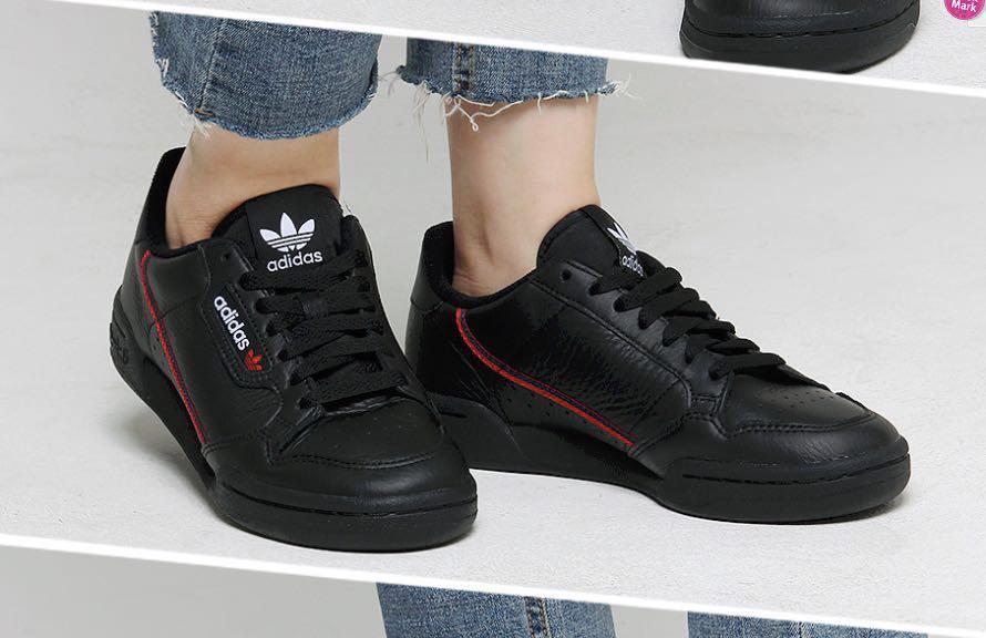 the best attitude 2df92 ff9cc Adidas Originals Continental 80 Shoes Black B41672, Mens Fas
