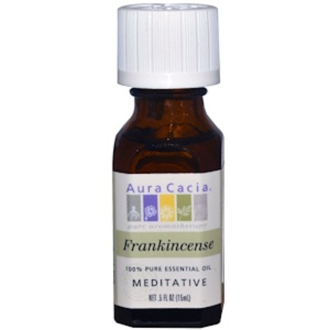 a5ef359f6967 Aura Cacia, 100% Pure Essential Oil, Frankincense, Meditative, .5 fl oz (15  ml)