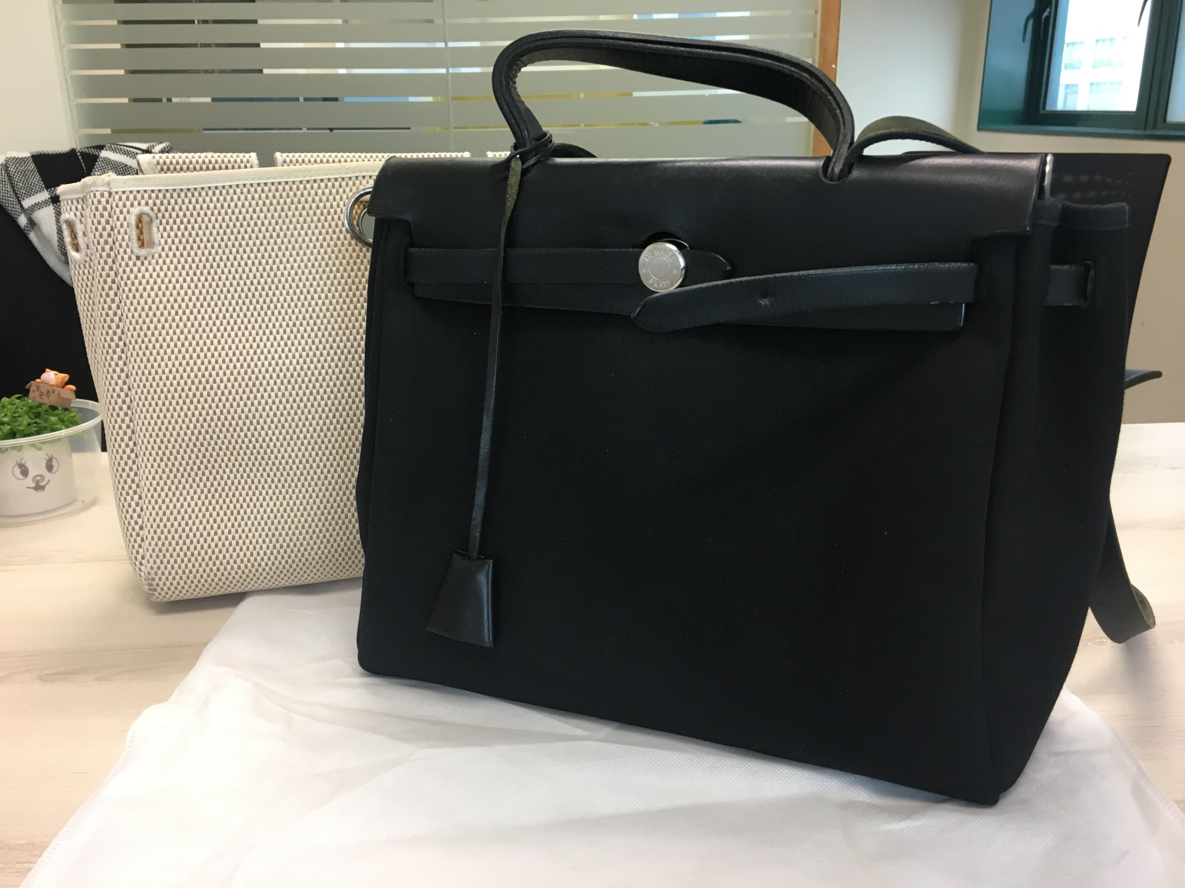 fa49eac3c88 Authentic Hermes Herbag PM 2 in 1