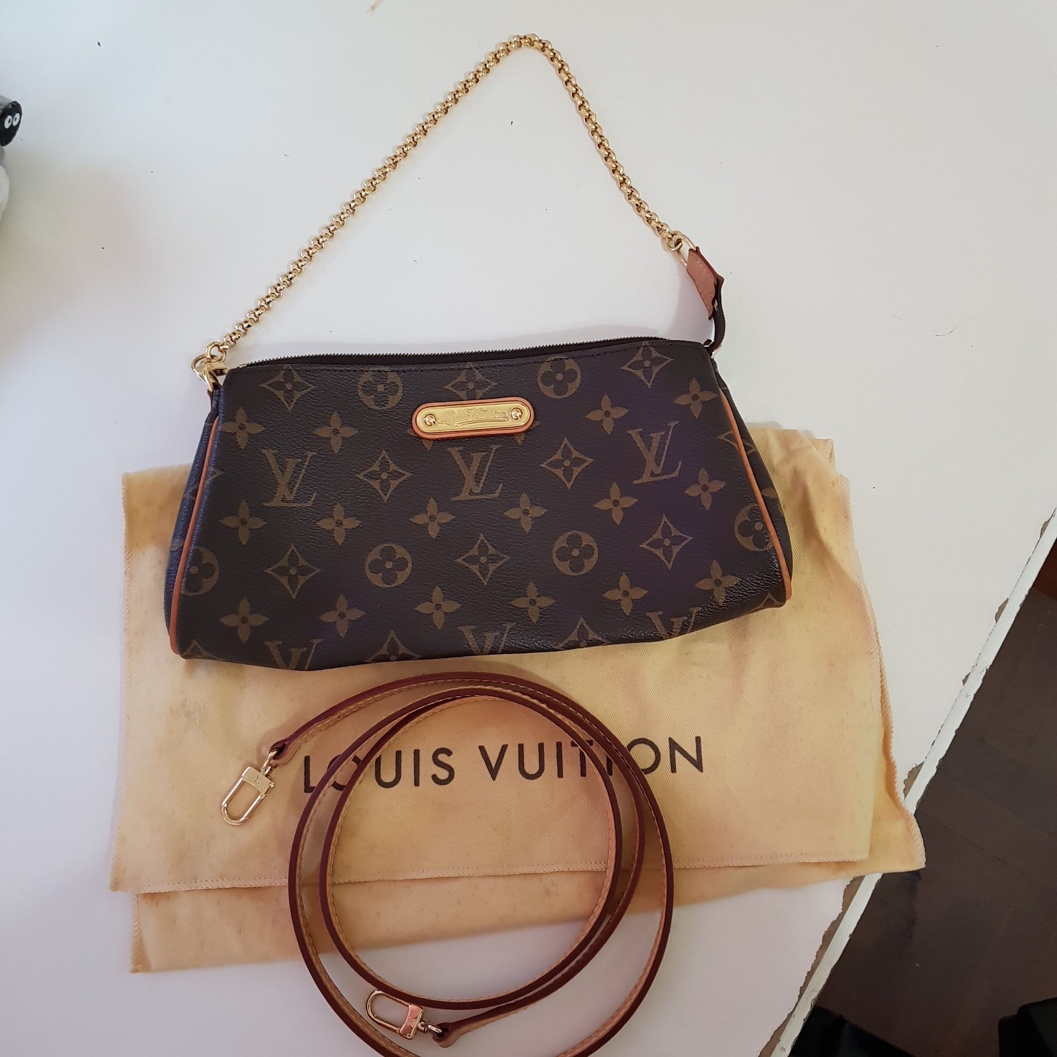 1f78d973ad2 Authentic Louis vuitton EVA clutch sling dinner evening lunch ...