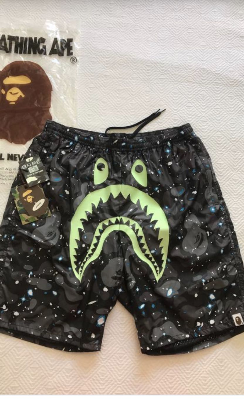 63fcb4ab65 Bape camo glow in the dark swim shorts, Men's Fashion, Clothes, Bottoms on  Carousell