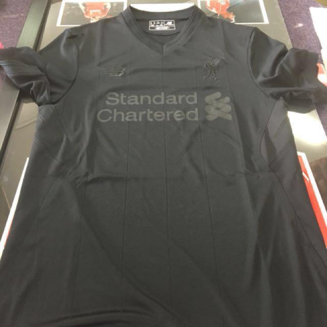 differently e09ef 50b8f Black Liverpool 125 Anniversary Jersey (Limited Edition ...