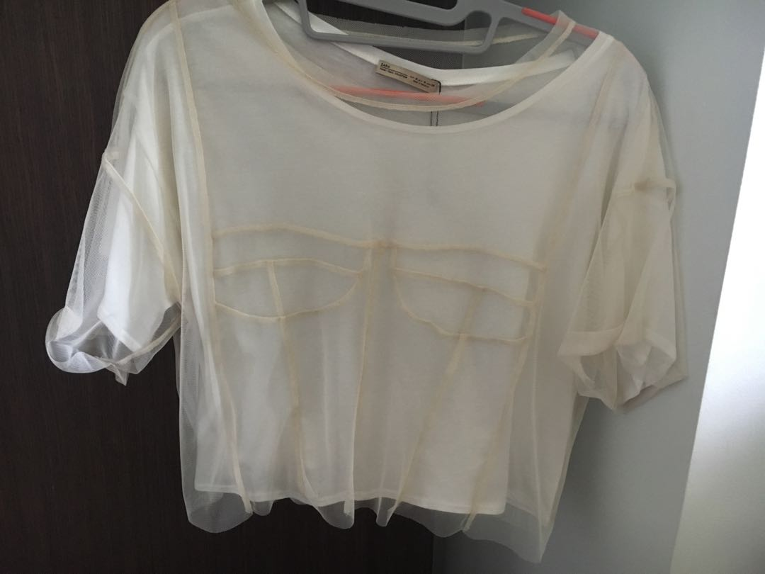 43c2ddb7 BN Zara crop top, Women's Fashion, Clothes, Tops on Carousell