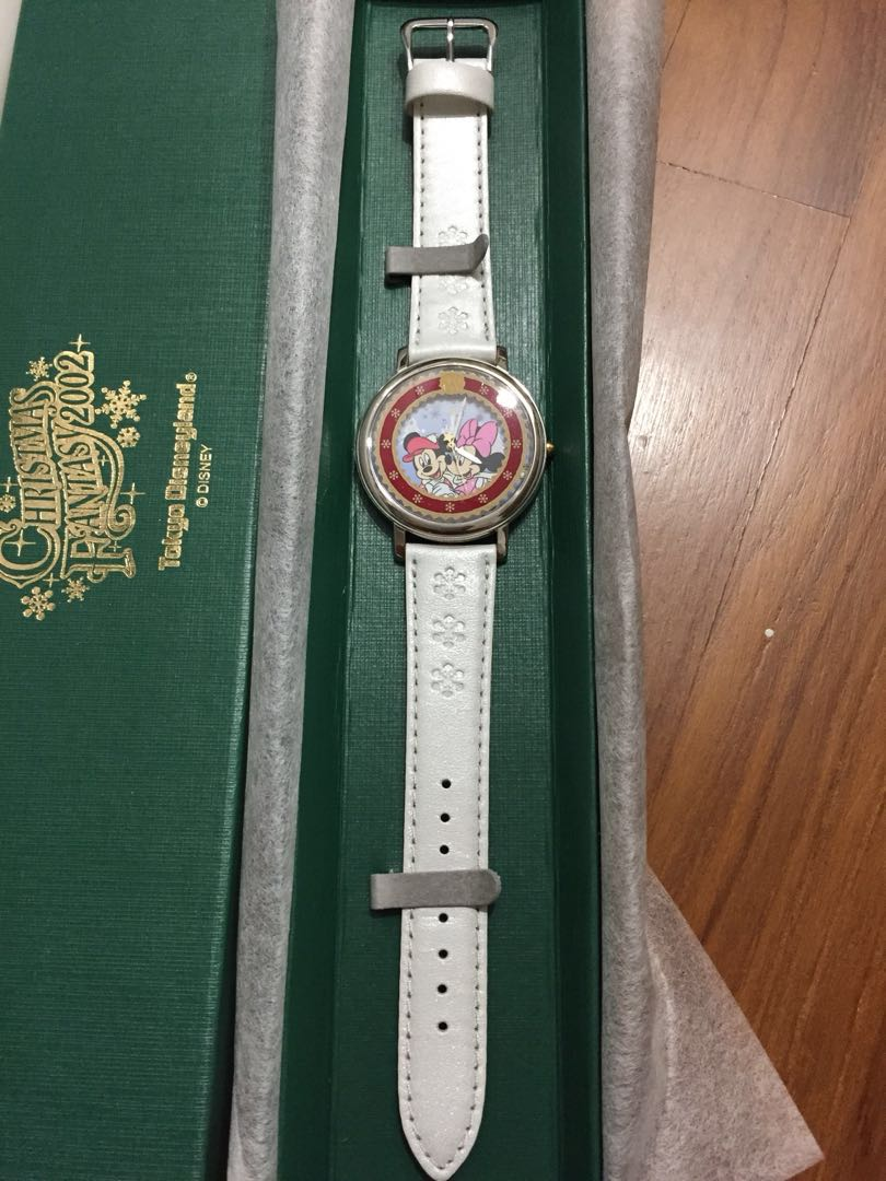 BNIB! Official Tokyo Disneyland Christmas Fantasy 2002 Mickey and Minnie  Mouse Limited Edition Watch (only 1000 released and with unique serial