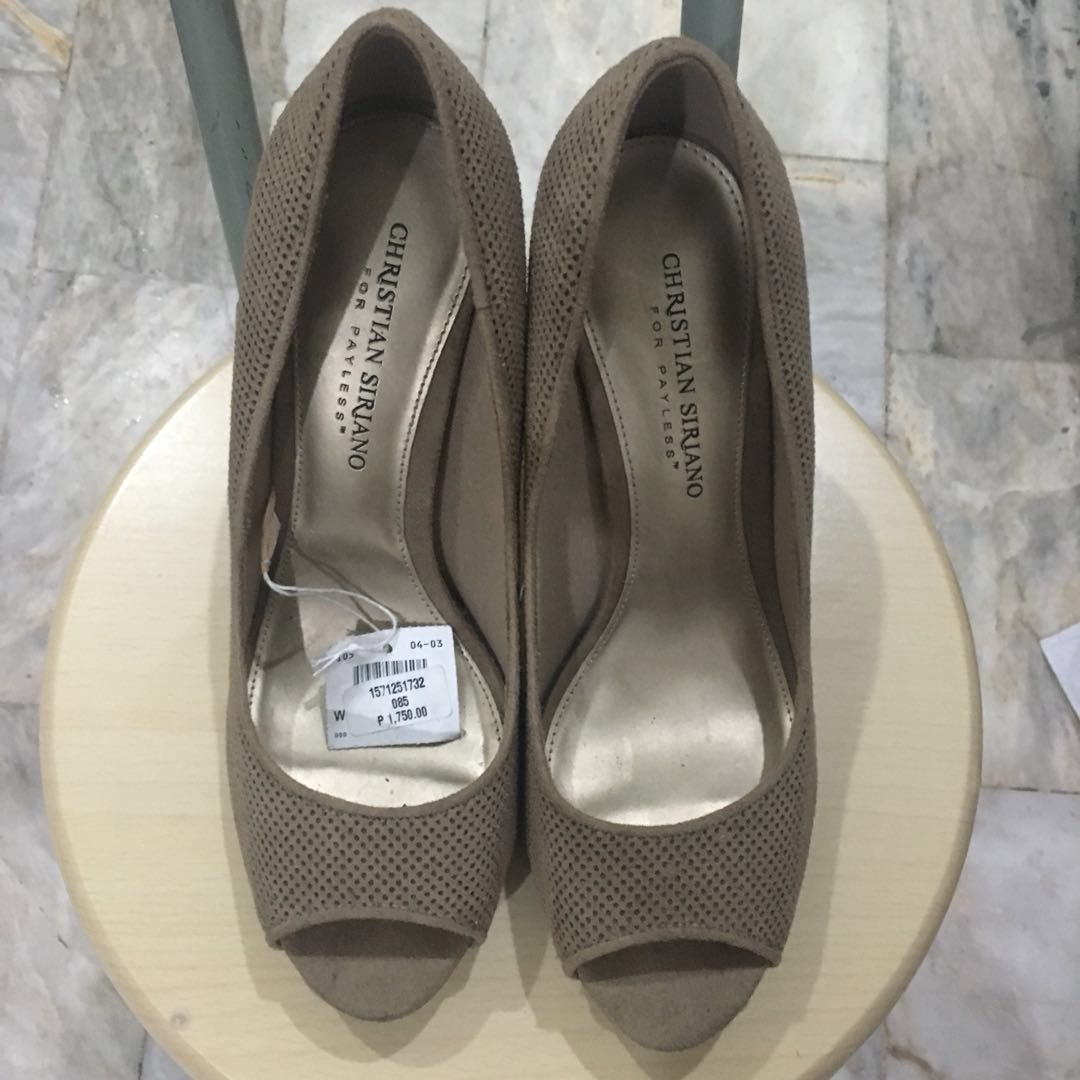 98cb5aa4ac Christian Siriano for payless Nude Peeptoe Heels, Women's Fashion, Shoes on  Carousell