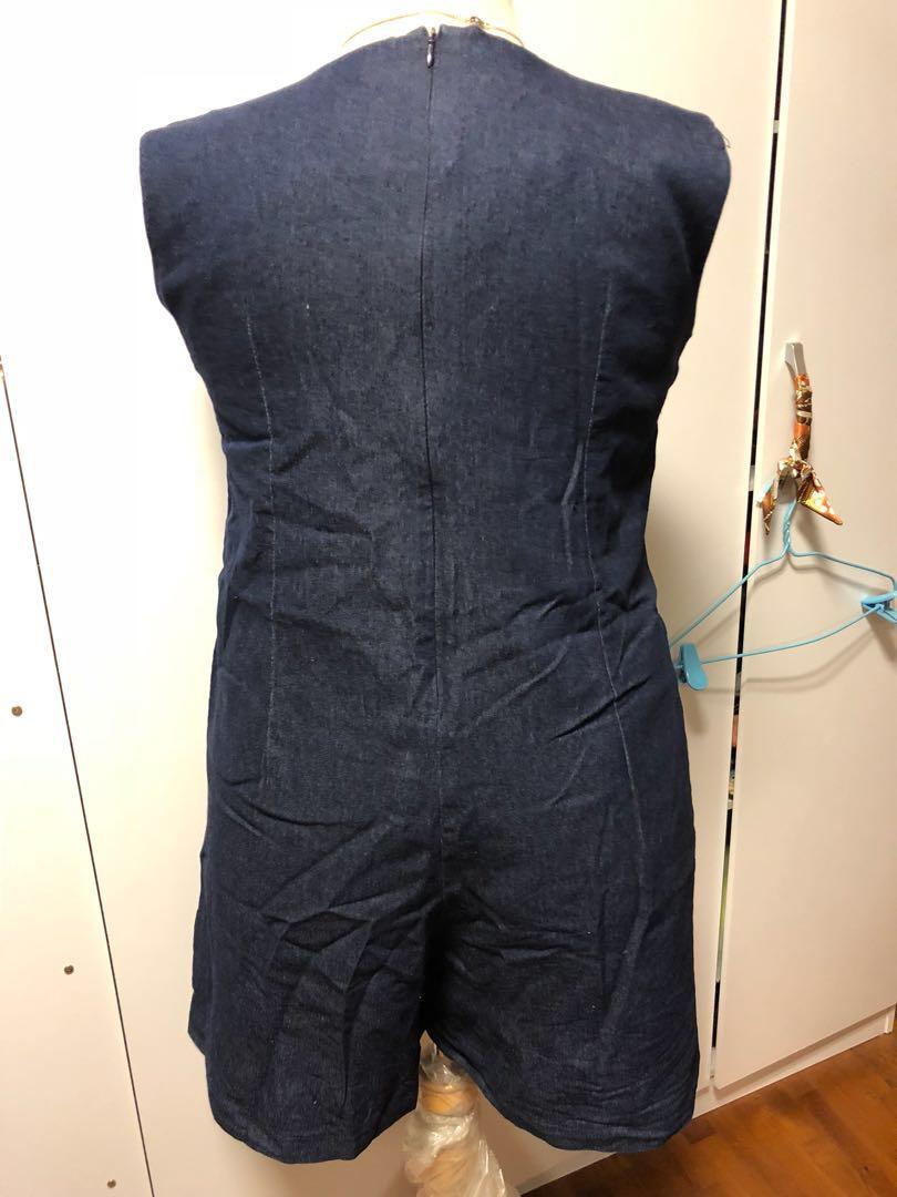 10a4344855c Clearance sale - BN plus size OY denim romper jumpsuit